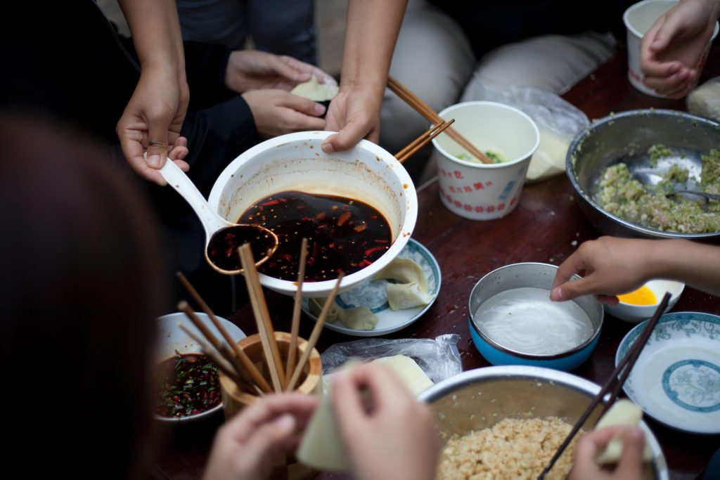 Here we learned how to make traditional Chinese dumplings from scratch. Our group of around 16 people each had a task to do and it was an assembling line for dumpling production. A beautiful procedure leading to a delicious product.